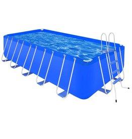 VidaXL Zwembad met ladder en pomp staal 540x270x122 cm