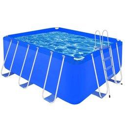 VidaXL Opbouwzwembad met stalen ladder 400 x 207 x 122 cm