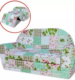 VidaXL Loungestoel voor kinderen uitklapbaar bloemenpatroon