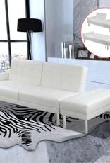 VidaXL Slaapbank verstelbaar kunstleer wit