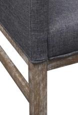 VidaXL Bank met gevoerde kussens stof rubberhout donkergrijs