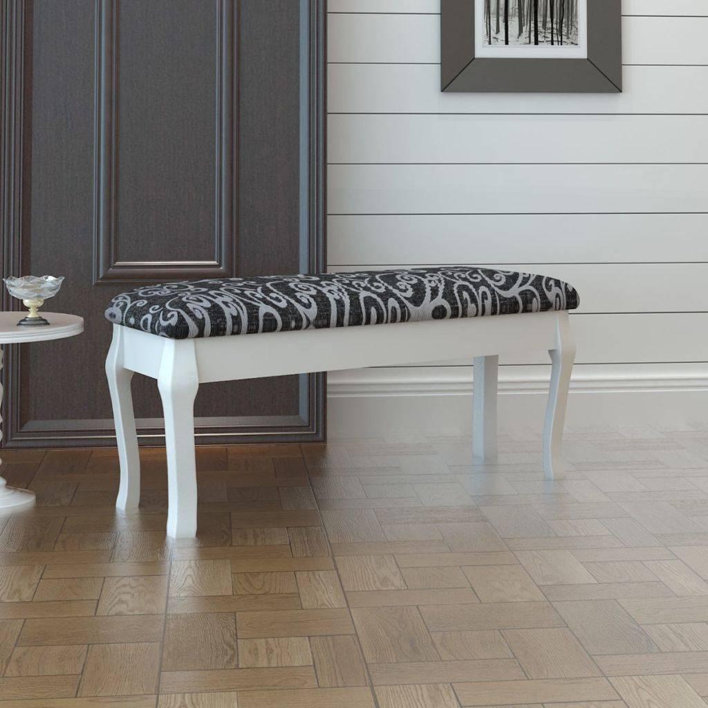 VidaXL Kaptafel bankje zwart 110 cm