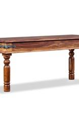 VidaXL Kasteelbankje 110x35x45 cm massief sheesham hout