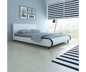 Bed Met Matras : Vidaxl bed met matras cm kunstleer wit