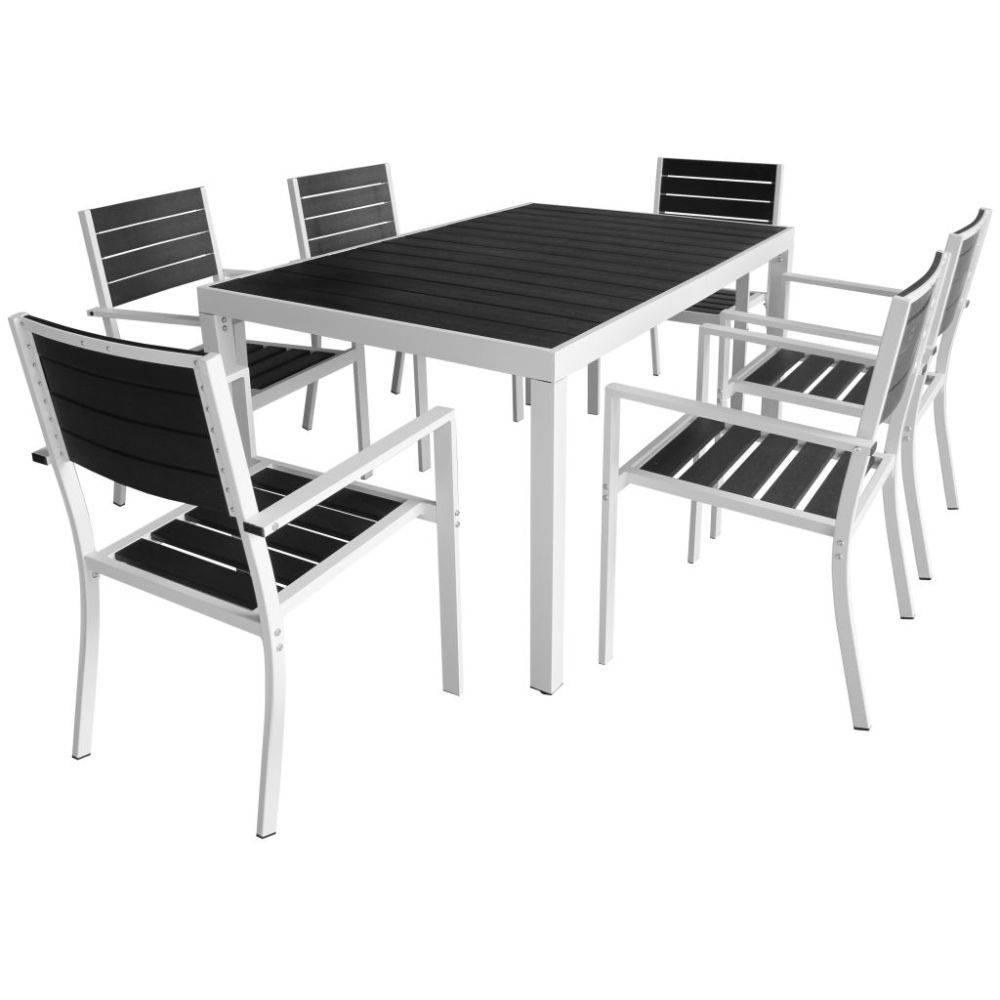 VidaXL Tuinset 150x90x74 cm aluminium HKC zwart 7-delig