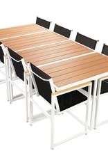 VidaXL Tuinset 220x100x72 cm aluminium HKC bruin 9-delig