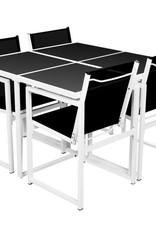 VidaXL Tuinset 109x109x72 cm aluminium 5-delig