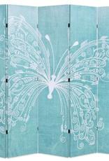 VidaXL Kamerverdeler inklapbaar vlinder 200x180 cm blauw
