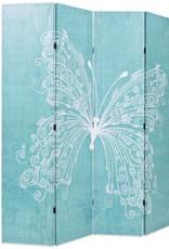 VidaXL Kamerverdeler inklapbaar vlinder 160x180 cm blauw