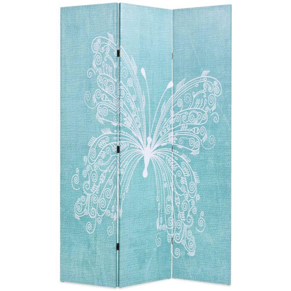 VidaXL Kamerverdeler inklapbaar vlinder 120x180 cm blauw