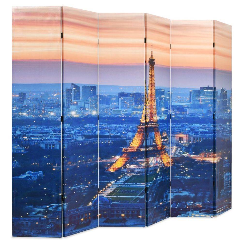 VidaXL Kamerverdeler inklapbaar Parijs bij nacht 228x180 cm