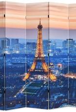 VidaXL Kamerverdeler inklapbaar Parijs bij nacht 200x180 cm