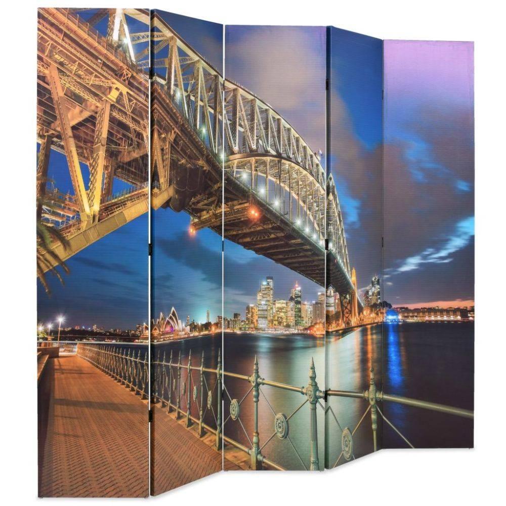 VidaXL Kamerverdeler inklapbaar Sydney Harbour Bridge 200x180 cm
