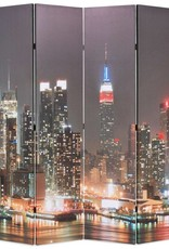 VidaXL Kamerverdeler inklapbaar New York bij nacht 160x180 cm