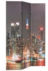 VidaXL Kamerverdeler inklapbaar New York bij nacht 120x180 cm