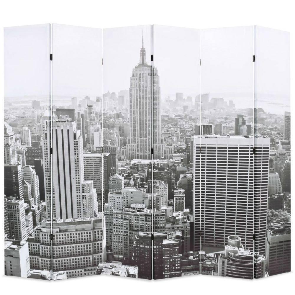 VidaXL Kamerverdeler New York bij daglicht 228x180 cm zwart en wit