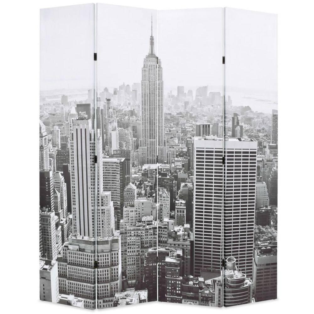 VidaXL Kamerverdeler New York bij daglicht 160x180 cm zwart en wit
