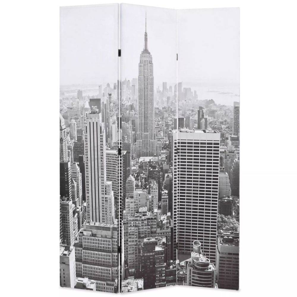 VidaXL Kamerverdeler New York bij daglicht 120x180 cm zwart en wit