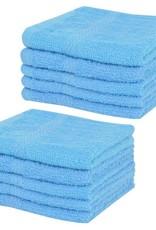 VidaXL Gastendoekjesset 360 g/m² 30x30 cm katoen blauw 10-delig