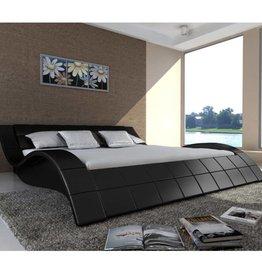 VidaXL 2-persoons bed Velocità zwart leder 180 x 200