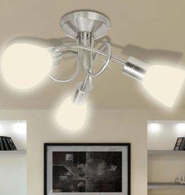 VidaXL Plafondlamp met glazen kappen voor 3 x E14 peertjes