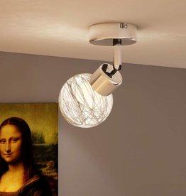 VidaXL Plafondlamp met ronde glazen kap incl. lamp