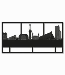 Rotterdam rechthoek zwart hout - groot