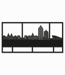 Amsterdam Rechthoek zwart hout - groot