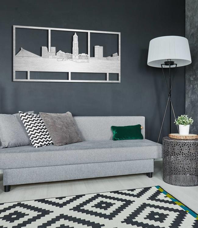 Skyline Utrecht rechthoek aluminium - 120 x 60cm