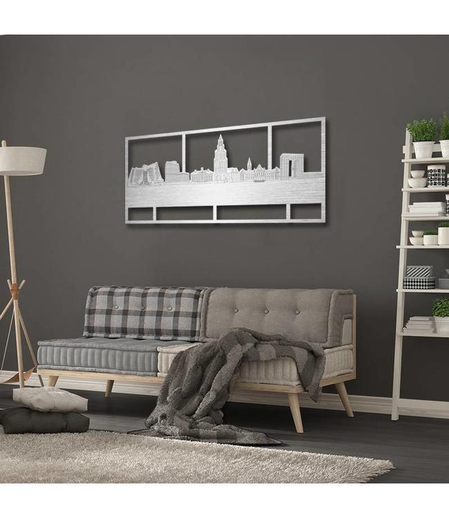 Skyline Groningen rechthoek aluminium - 120 x 60cm