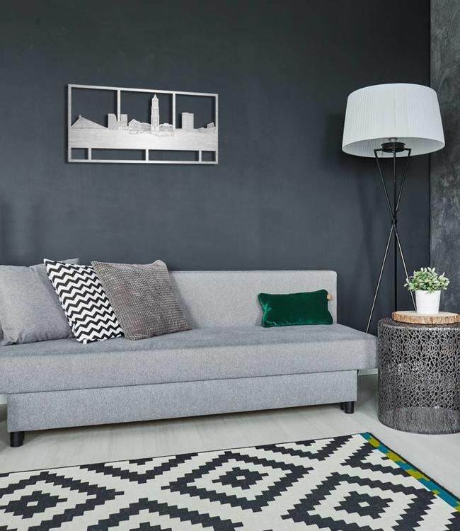 Skyline Utrecht rechthoek aluminium - 70 x 35 cm