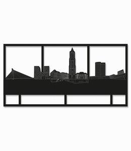 Utrecht Rechthoek zwart hout - groot