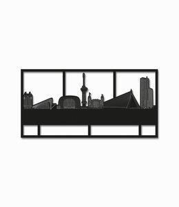 Rotterdam rechthoek zwart hout - klein