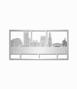 Skyline Leeuwarden rechthoek aluminium klein