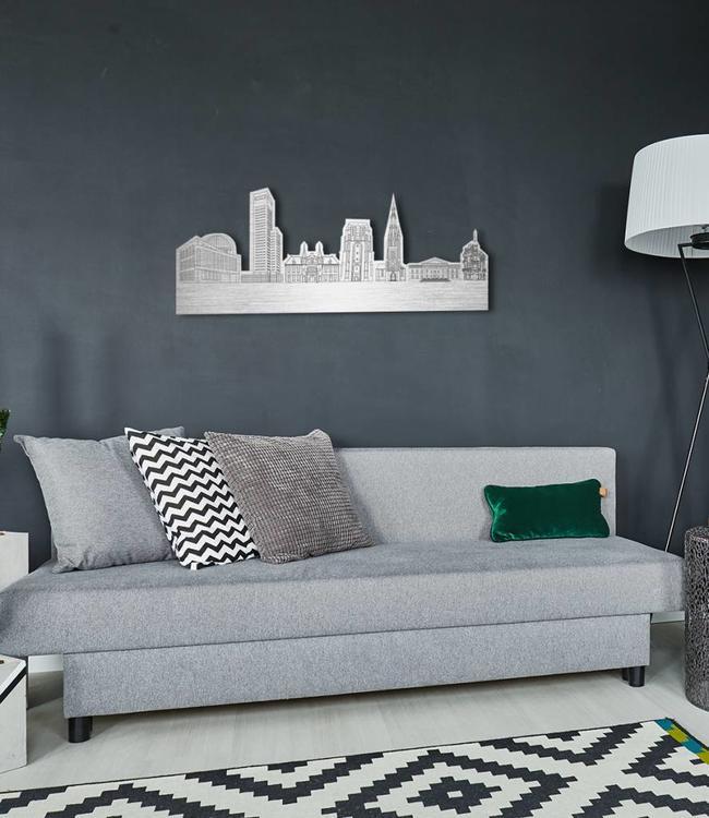 Skyline Leeuwarden vrijstaand metaal  70x28 cm