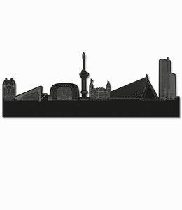 Skyline Rotterdam vrijstaand black wood - groot