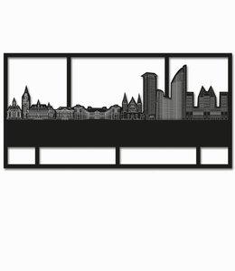 Den Haag Rechthoek zwart hout - groot