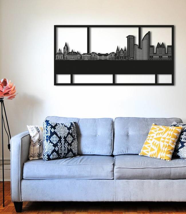 Den Haag Rechthoek zwart hout - 120 x 60cm