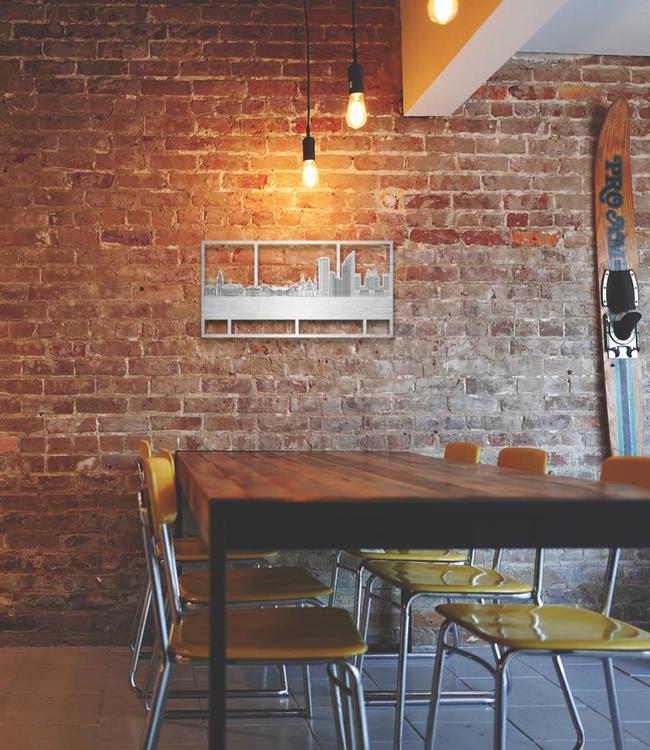 Den Haag rechthoek aluminium - 70 x 35 cm