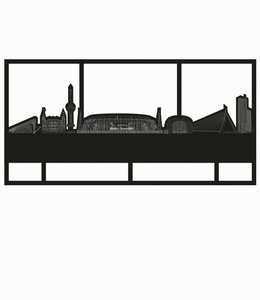 Skyline Rotterdam limited edition - De Kuip met kader