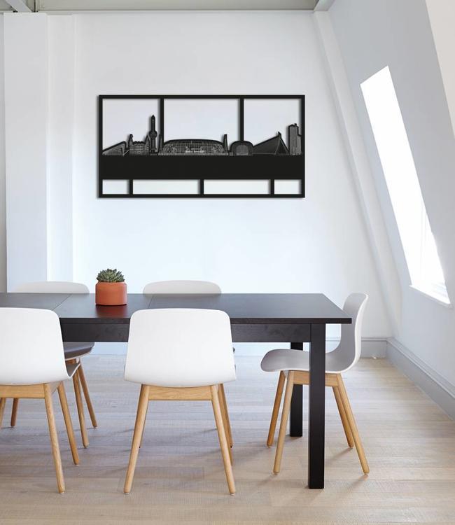 Skyline Rotterdam limited edition -De Kuip met kader (beperkte oplage)