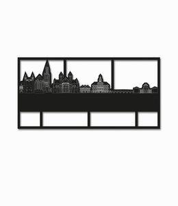 Skyline Maastricht zwart hout kader klein