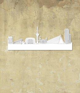 Skyline Rotterdam wit klein vrijstaand