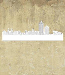 Skyline Amsterdam wit groot vrijstaand