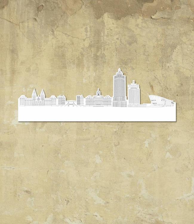 Skyline Amsterdam wit klein vrijstaand