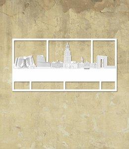 Skyline Groningen wit klein kader
