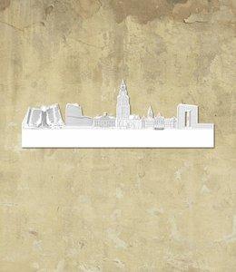 Skyline Groningen wit klein vrijstaand