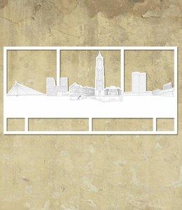 Skyline Utrecht wit groot kader