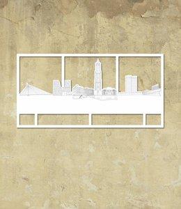 Skyline Utrecht wit klein kader