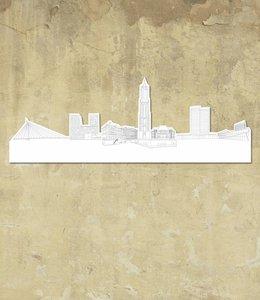 Skyline Utrecht wit groot vrijstaand
